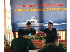 Công Ty CP Phần Công Nghệ James Boat bàn giao tàu tuần tra cao tốc MS-50F cho Bộ chỉ huy Bộ đội Biên phòng tỉnh Quảng Ninh