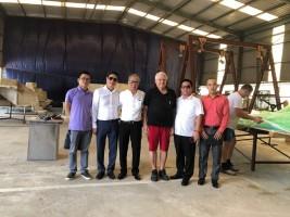 Ông Lương Hùng- Chủ tịch Hội bảo vệ thiên nhiên môi trường Hà Nội thăm Công ty CP Công Nghệ James Boat