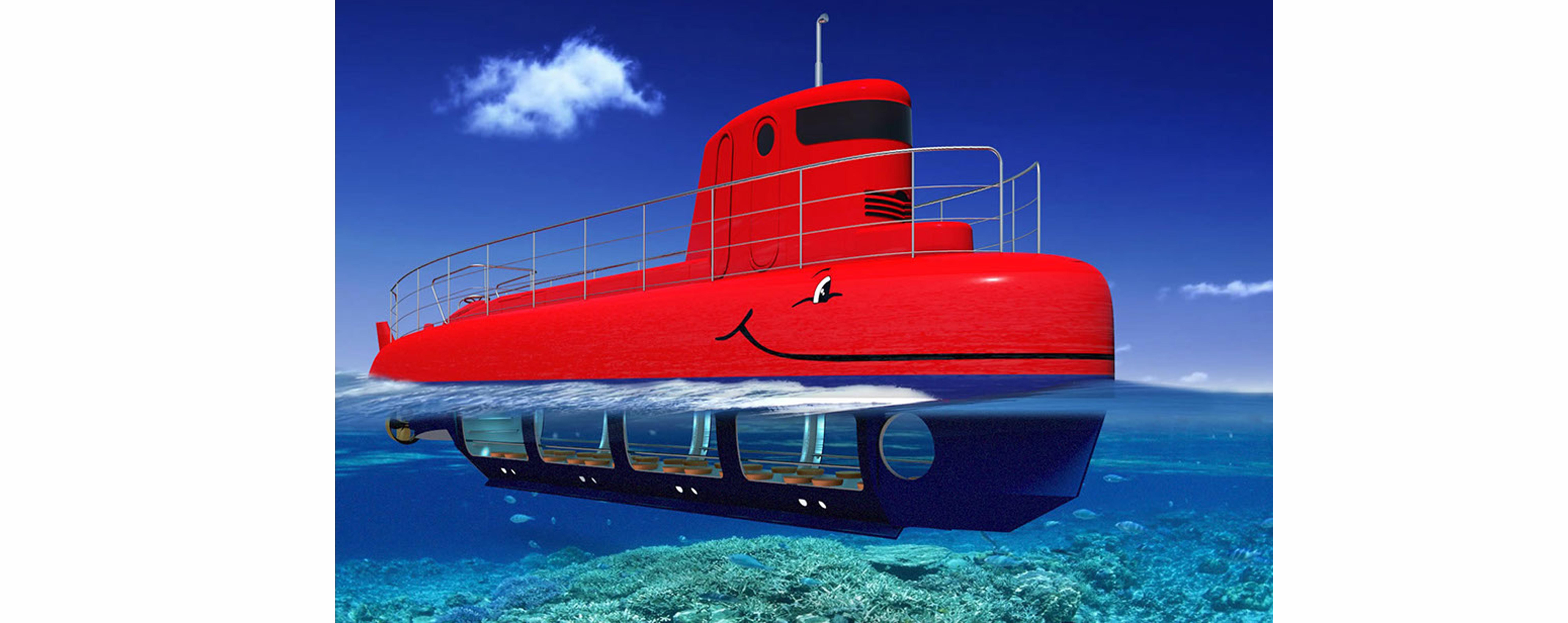 Tàu Ngầm đáy kính ngắm san hô....